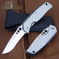 G Sakai Rip White Glass Carbon Fiber Pocket Knife 11166.  A very nice EDC folder.