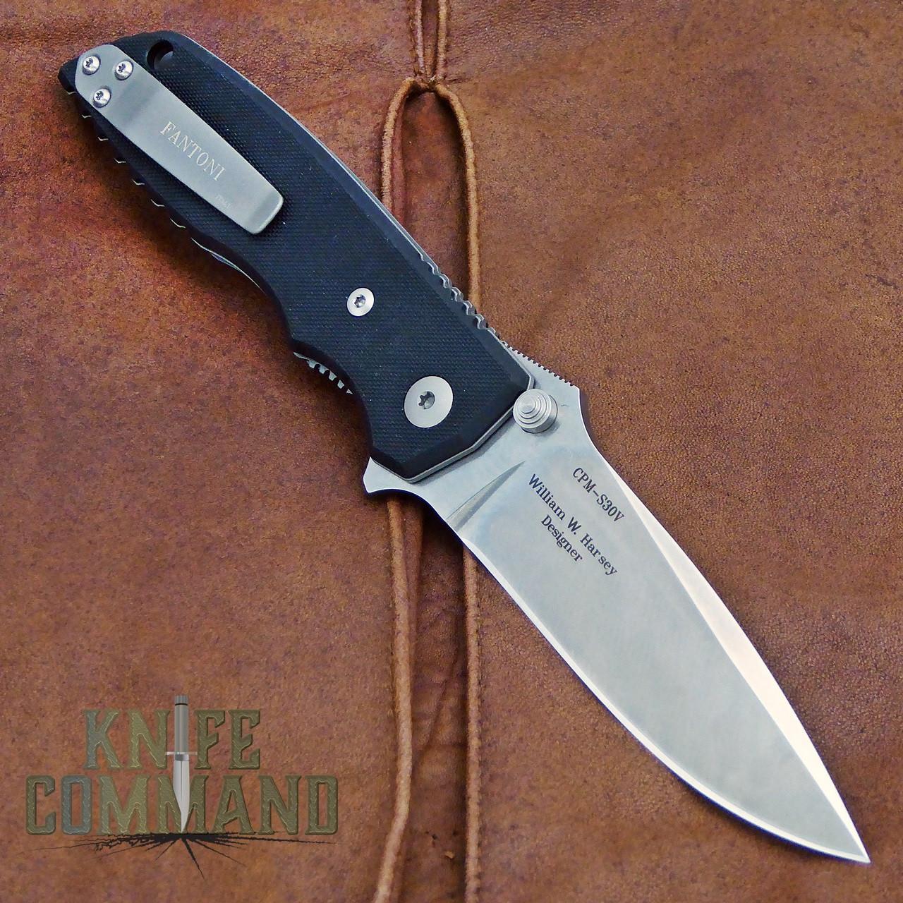 Fantoni HB 01 William Harsey Combat Folder Tactical Knife S30V.  William Harsey designed.