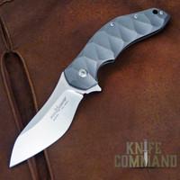 Fox Knives Jens Anso Titanium Framelock Flipper Knife FX-302.  Redesigned with ball bearing flipper pivot.