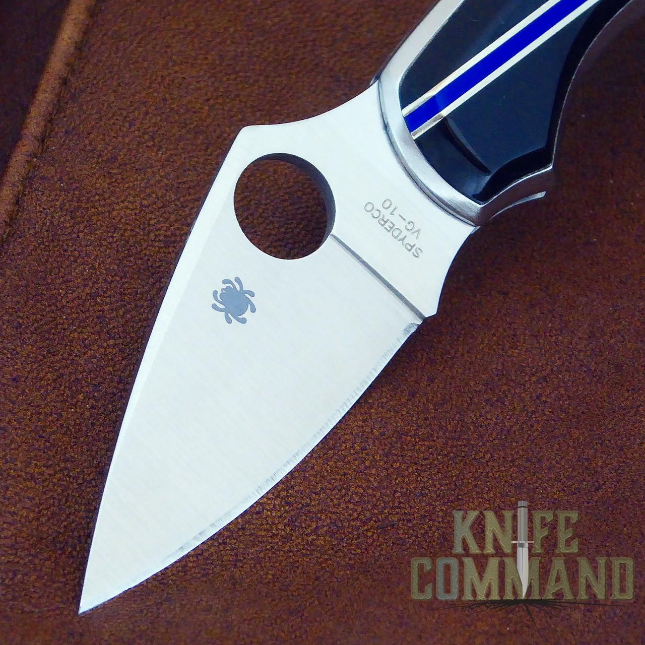 Spyderco Dragonfly Santa Fe Stoneworks Blue Line Special Knife.  VG-10 fine edge blade.