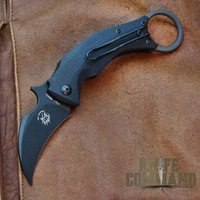 Fox Knives Bastinelli Black Bird Karambit Folding Knife FX-591.  Compact folding karambit.