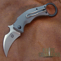 Fox Knives Bastinelli Black Bird Karambit Folding Knife FX-591 SW.  Compact folding karambit.