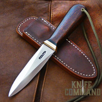 Randall Made Knives Model 24 Guardian Ironwood and Brass Boot Wrist Thong Knife.  Beautiful Ironwood handle.