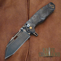 Wander Tactical Custom Hurricane TI Extreme Duty Folding Knife Black Micarta.