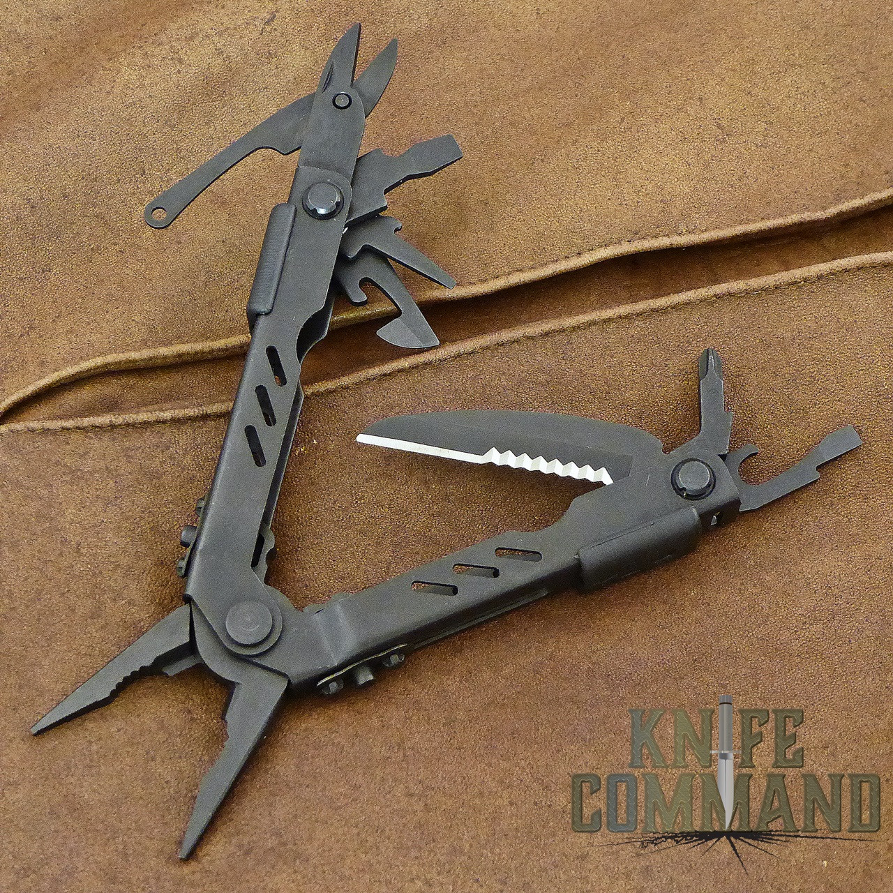 Gerber MP400 Compact Sport Tactical Black Multi-Tool Pliers with Sheath.  12 tools, compact size.