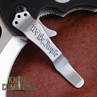 Emerson Knives We the People Replacement Pocket Clip.  Satin finish.