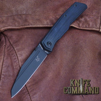 Fox Knives Bob Terzuola Tactical Black G-10 Liner Lock Pocket Knife FX-515.  All black with wharncliffe blade.