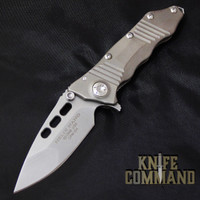 Guardian Tactical Helix Nano Titanium Flipper Knife Gunmetal 66811.  Premium Titanium version with polished hardware.