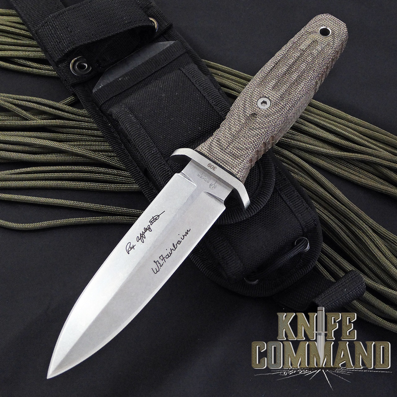 """Boker Applegate-Fairbairn A-F 4.5 Harsey Combat Knife 120644.  Compact design with 4-1/2"""" blade."""