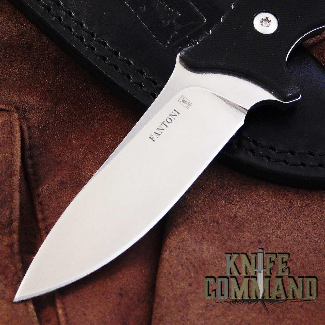 Fantoni HB Fixed Blade William Harsey Combat Tactical Knife S35VN Leather.  CPM S35VN stainless steel.