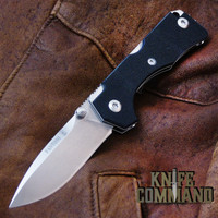 Fantoni Hide Black G-10 Lockback Folding Knife by Tommaso Rumici.  Fine Italian craftsmanship.