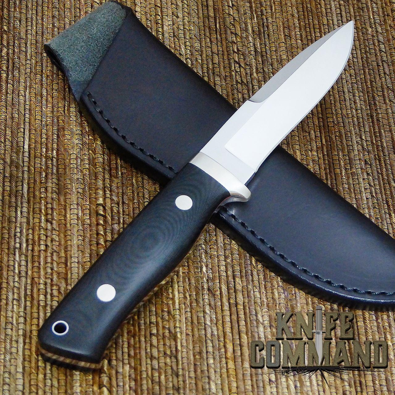 Hattori Knives Dream Hunter Ht-05 Red Hunting Knife.  Nickel Silver hardware.