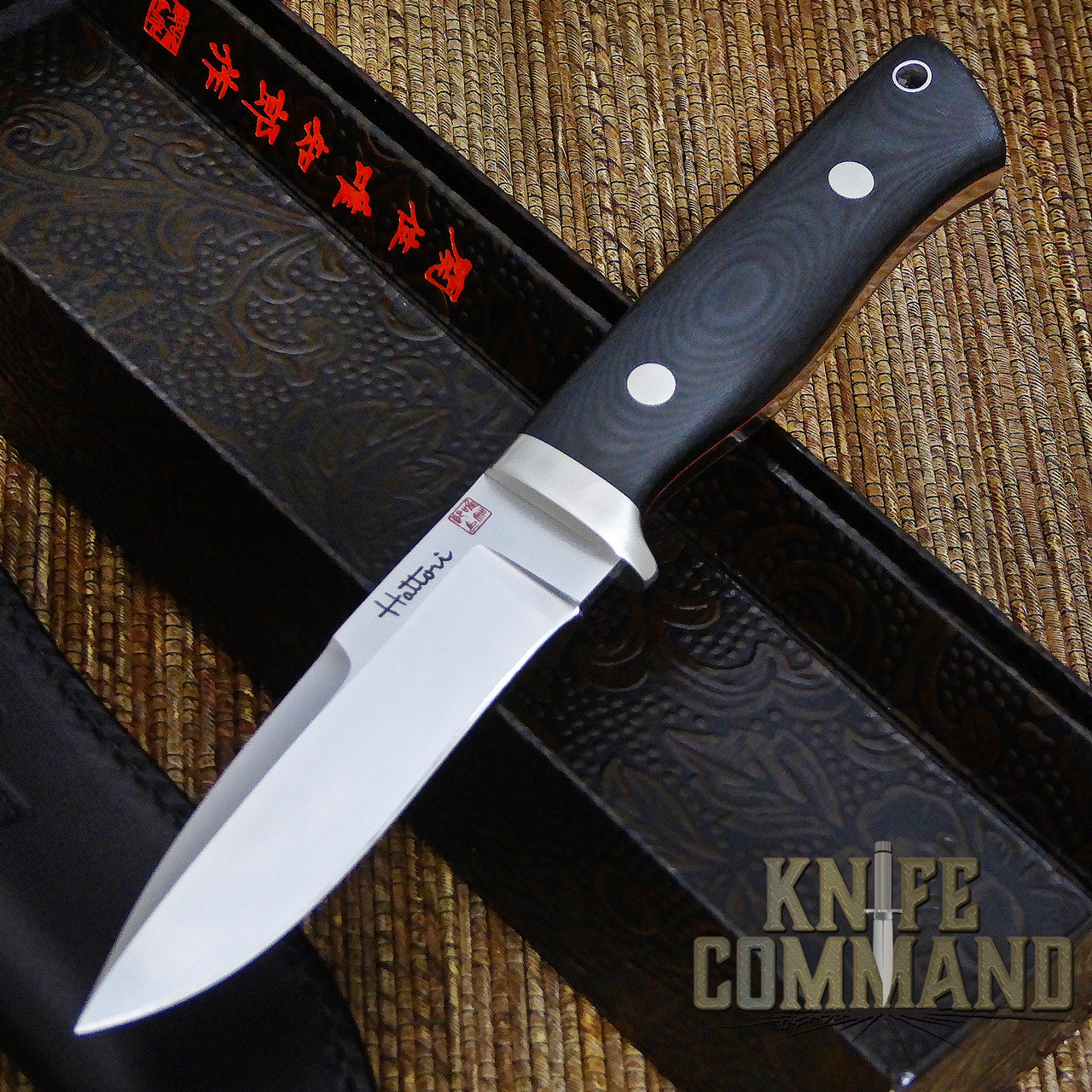 Hattori Knives Dream Hunter Ht-05 Red Hunting Knife