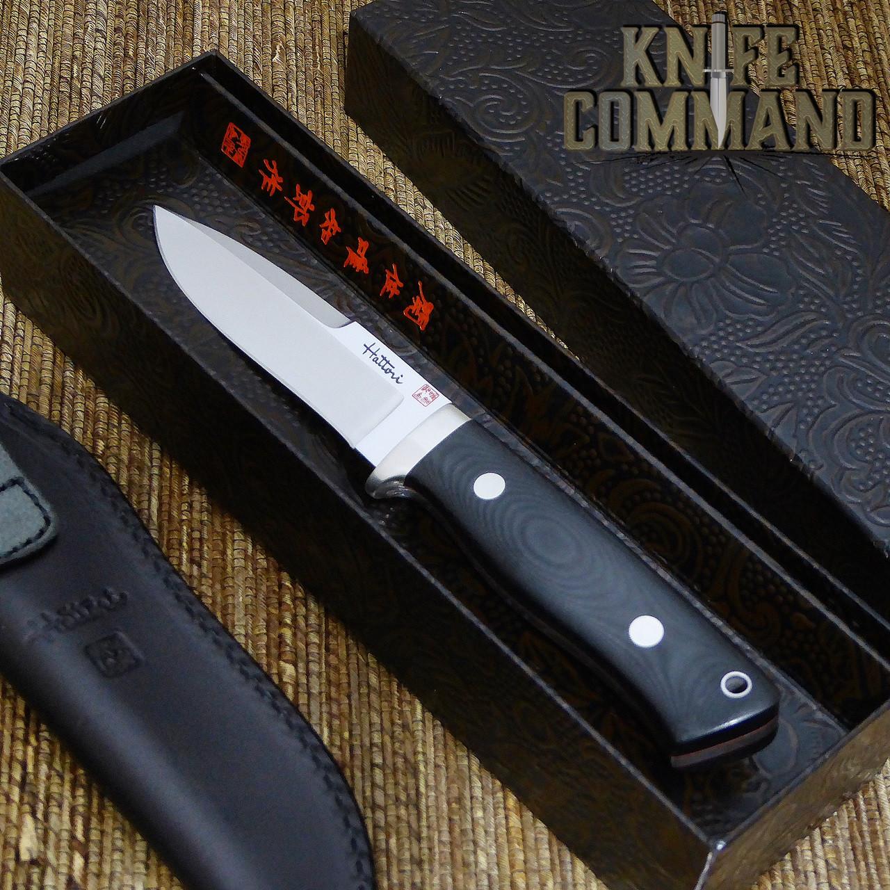 Hattori Knives Dream Hunter Ht-05 Red Hunting Knife.  Fancy presentation box.