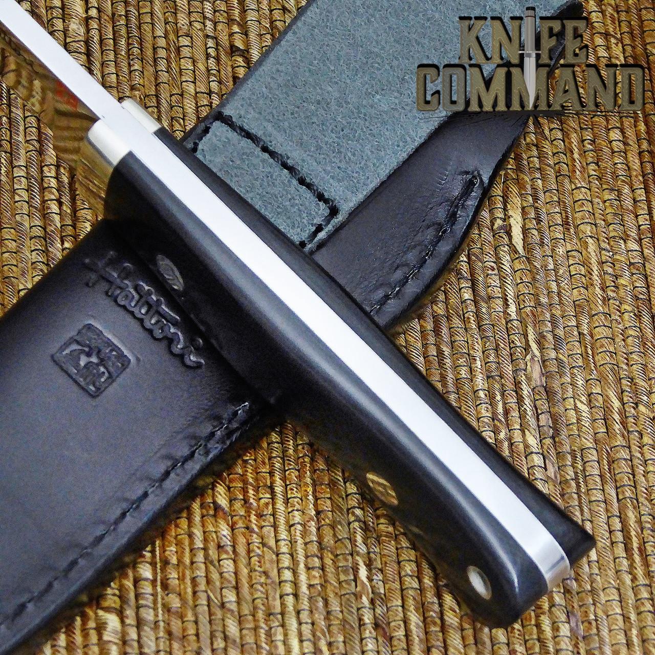 Hattori Knives Dream Hunter Ht-05 White Hunting Knife.  Fine white spacers.