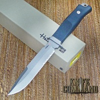 Hattori Knives Model S-51 Sea Commander Combat Military and Dive Knife.   Anti-glare flourine coated blade.