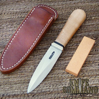 Randall Made Knives Model 24 Guardian Maple and Nickel Silver  Boot Knife.  Simple elegance.