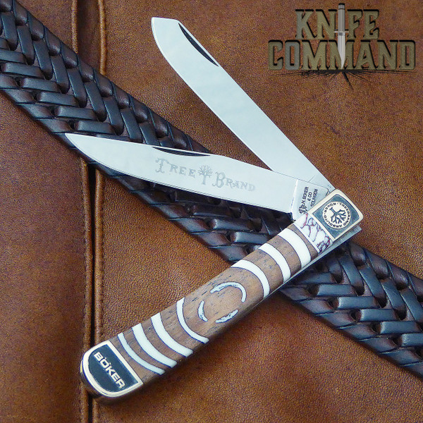Boker Solingen One of a Kind Trapper Mammoth Walnut Custom Serial Number 001.  One of a kind.
