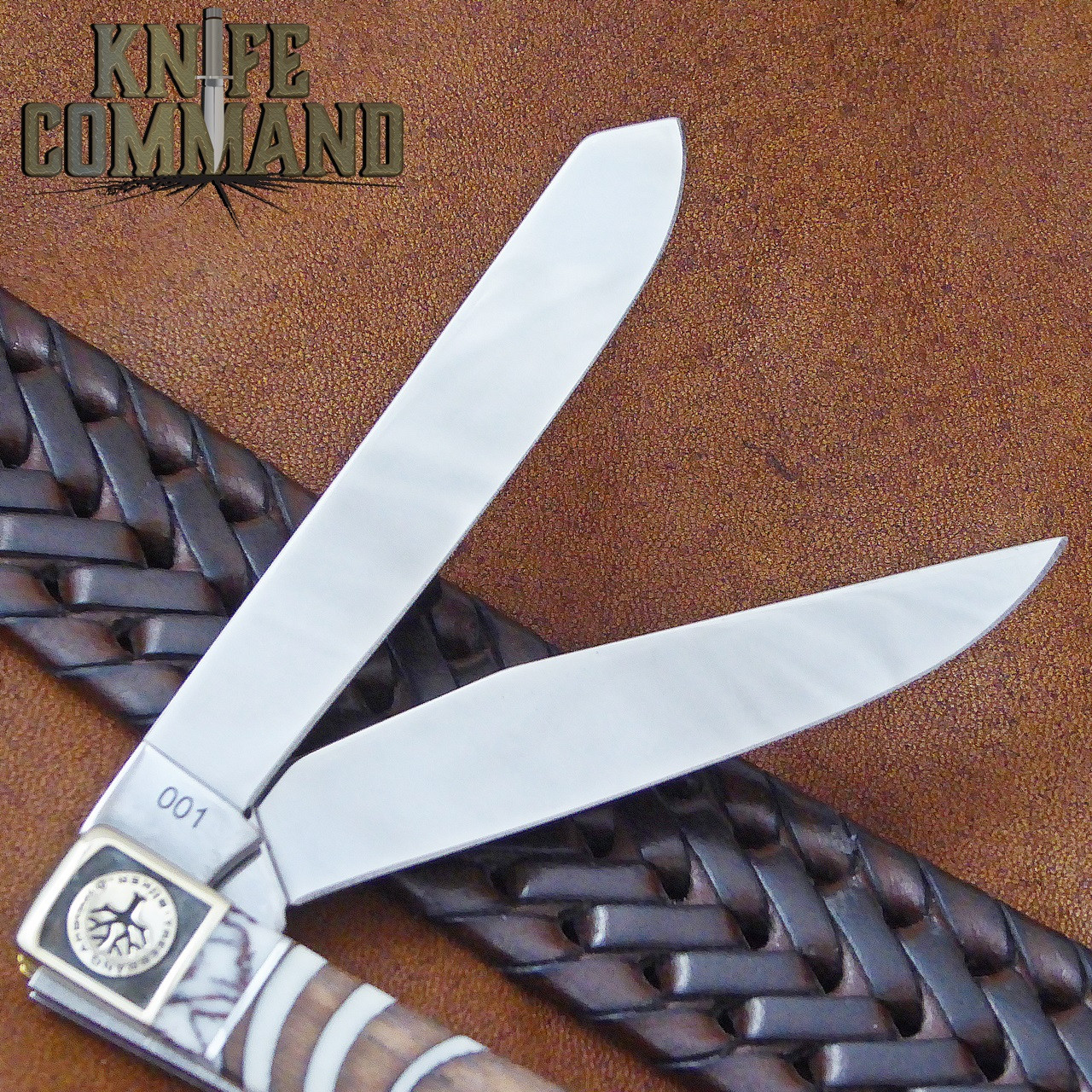 Boker Solingen One of a Kind Trapper Mammoth Walnut Custom Serial Number 001.  Serial numbered.