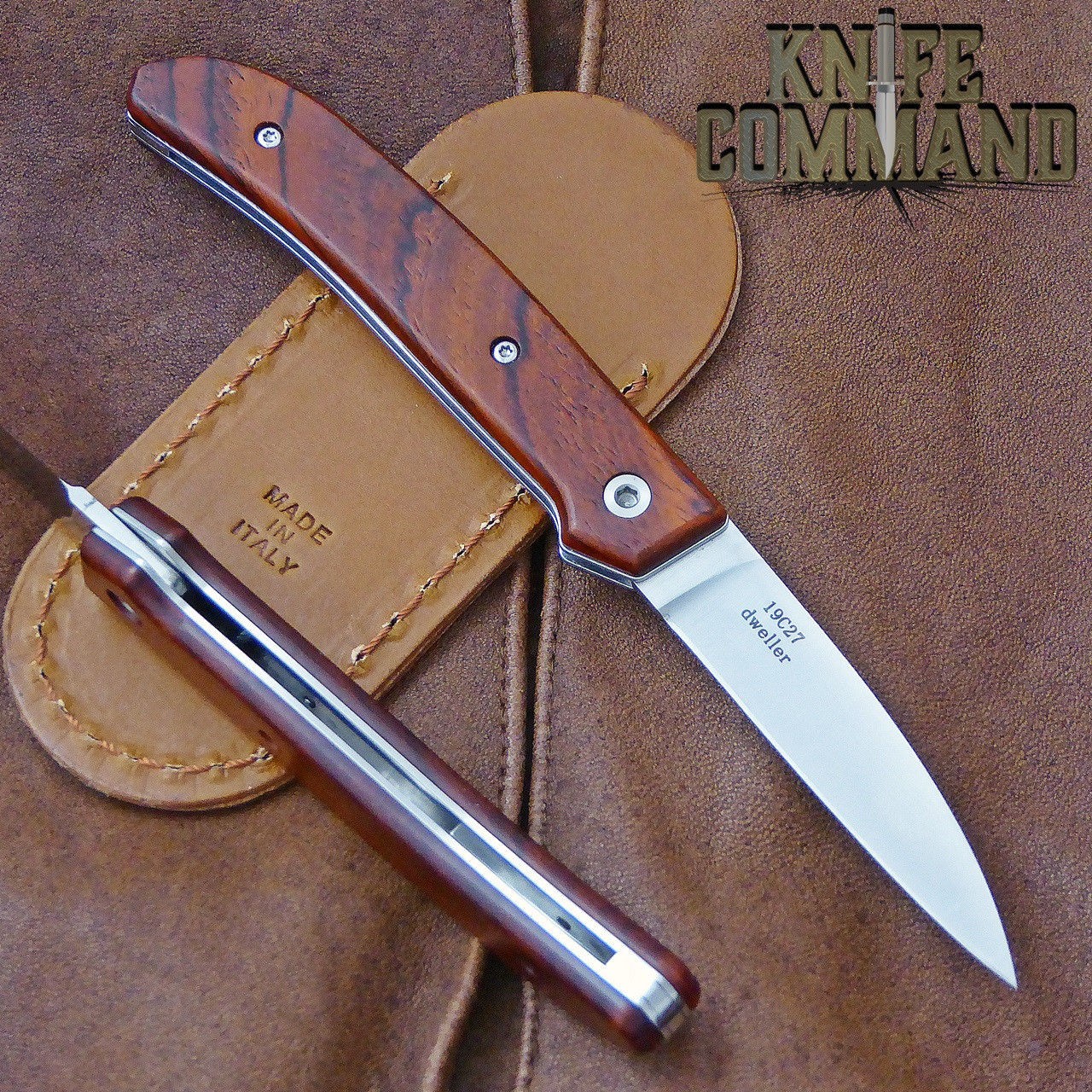 Fantoni Dweller Cocobolo S Italian Made Slip-joint EDC Pocket Knife.  Now with stainless steel liners.