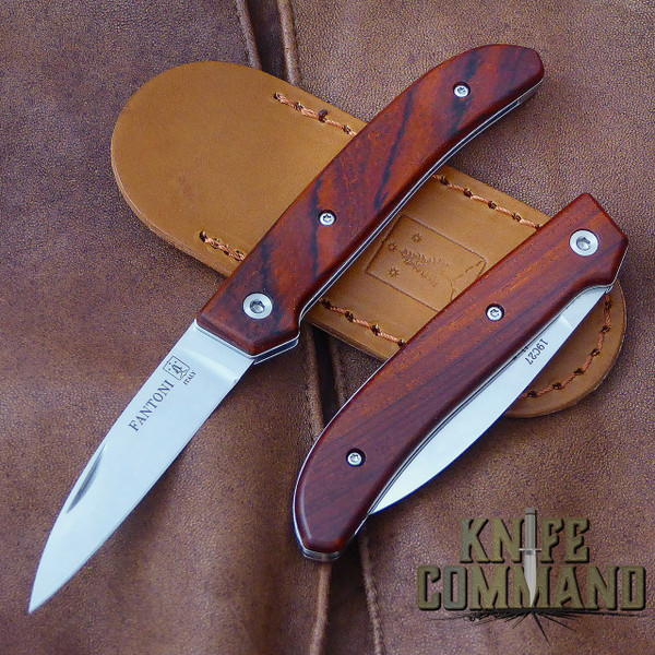 Fantoni Dweller Cocobolo S Italian Made Slip-joint EDC Pocket Knife.  Top quality Cocobolo handles.