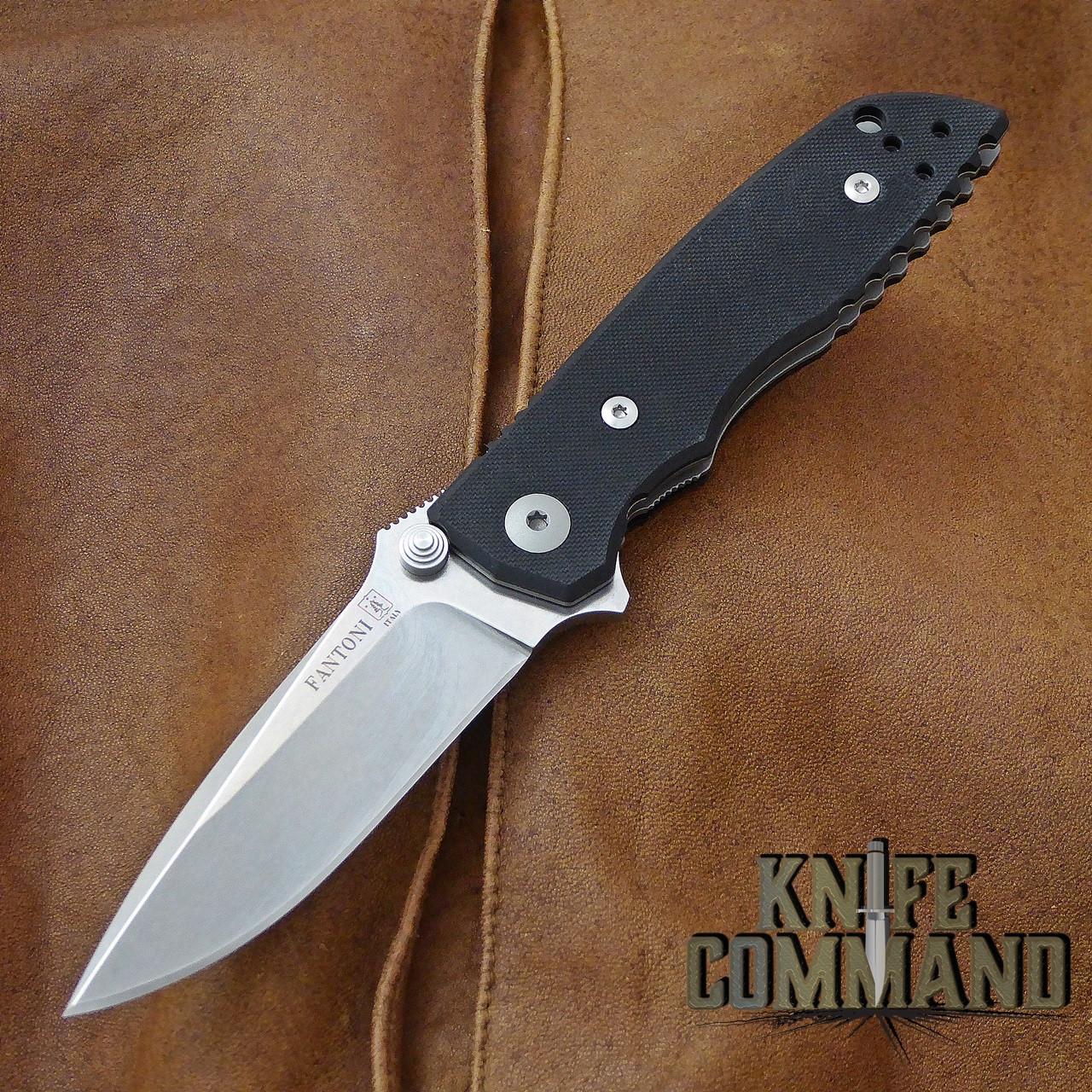 Fantoni HB 03 M390 William Harsey Combat Folder Tactical Knife Black.  Bohler M390 Microclean stainless steel blade.