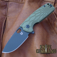 Fox Knives Vox Core FX-604OD Folding Knife OD Green Black Blade.  N690Co stainless steel blade.