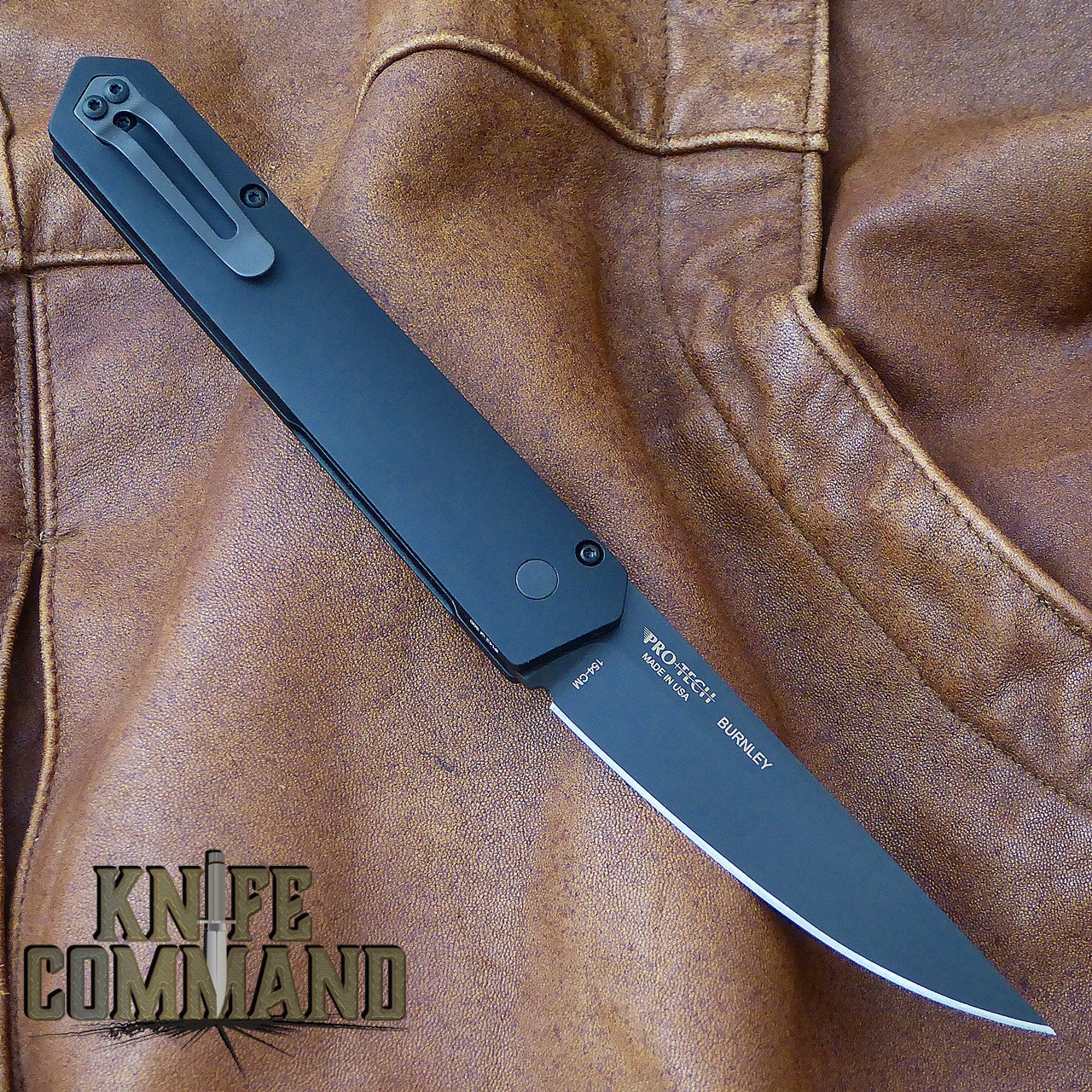 Boker Pro-Tech Burnley Kwaiken Automatic Knife Black Out 06EX292.  Pro-Tech automatic engineering.