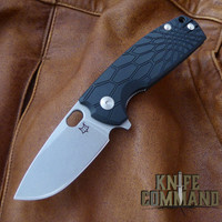 Fox Knives Vox Core FX-604 Folding Knife Black Stonewash Blade.  N690Co stainless steel blade.