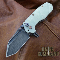 Wander Tactical Custom Mini Hurricane TI Extreme Duty Gentleman's Folding Knife Jade G10.   Custom Jade / Raw version.