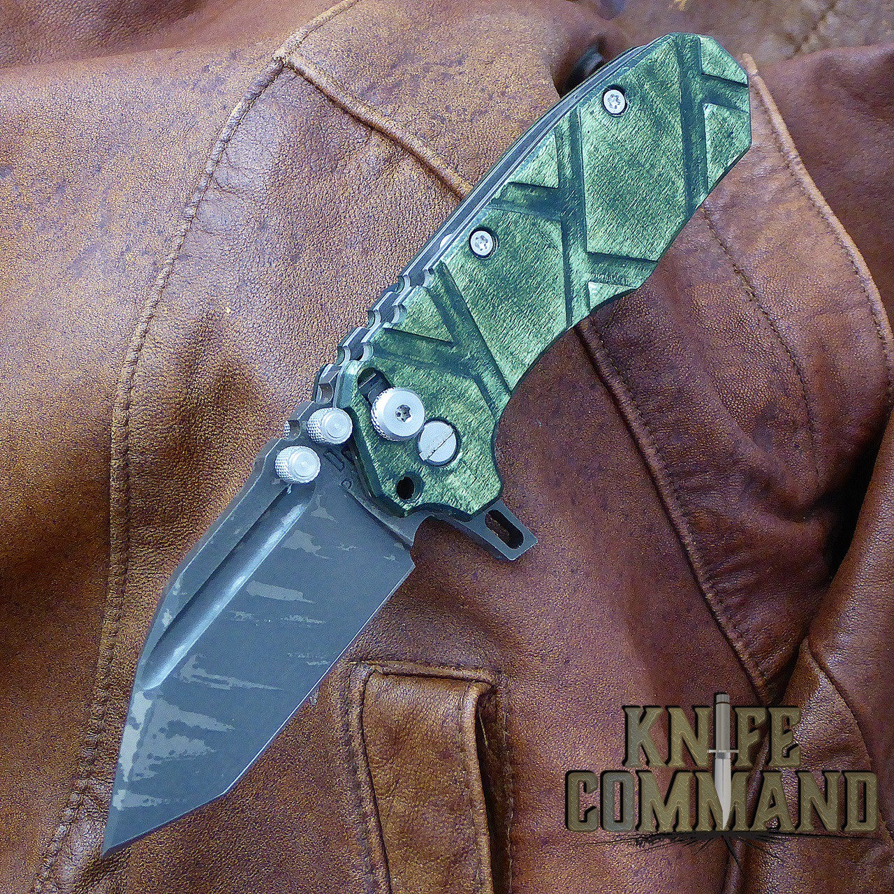 Custom Green Maple handles.