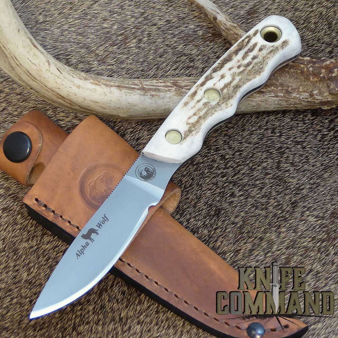 D2 blade and Stag handle.