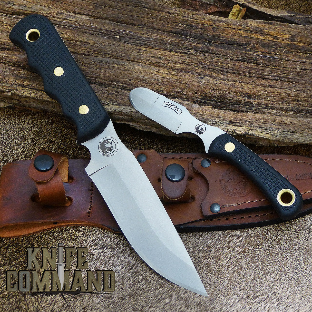Knives Of Alaska Bush Camp Muskrat Suregrip Hunting Knife