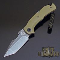 Black Stonewash Niolox steel blade.