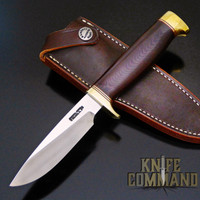 SS, Border Patrol Handle, Maroon Micarta, Crow's Beak Butt, Brass and Red Spacers!
