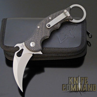 Fox Knives 599TiCS Folding Karambit Knife Satin, Carbon Fiber & Titanium