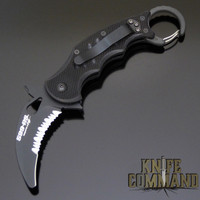 Fox Knives 599RS Folding Karambit Rescue Knife Black G10