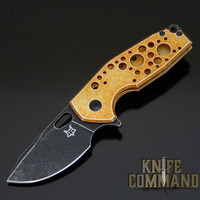 Fox Knives Voxnaes Suru FX-526ALO Folding Knife Orange with Stonewash Black Blade