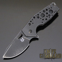 Fox Knives Voxnaes Suru FX-526ALB Folding Knife Black Aluminum with Stonewash Black Blade