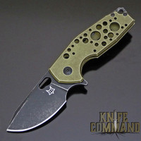 Fox Knives Voxnaes Suru FX-526ALG Folding Knife Green Aluminum with Stonewash Black Blade