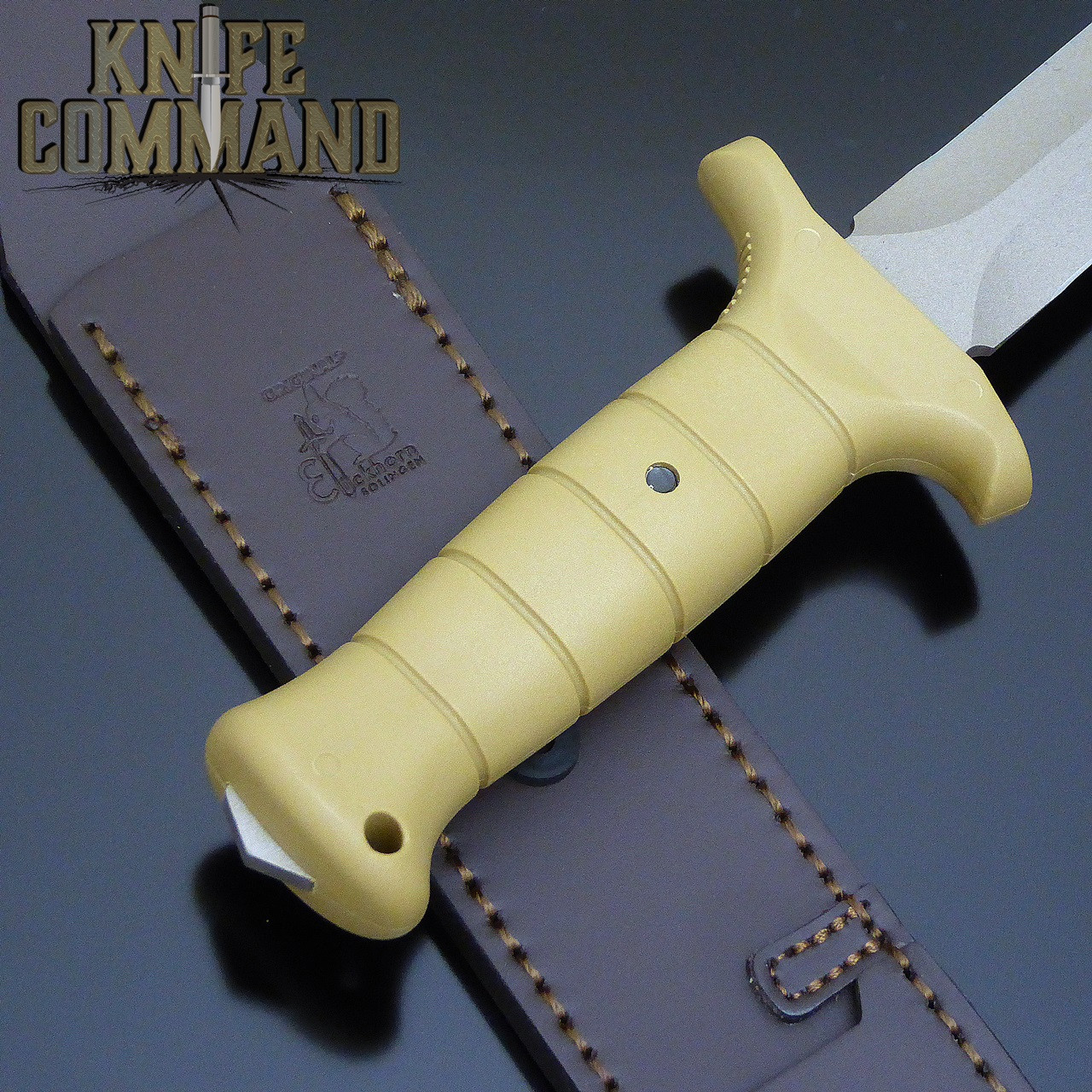 Glass reinforced handle with exposed tang.