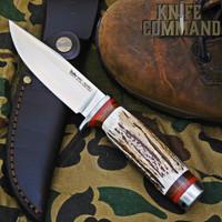 """Linder Solingen Mark 1 Stag Hunting Knife 4-3/4"""" 440C 107512"""