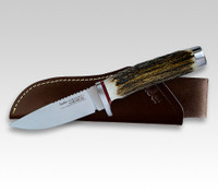 "Linder Solingen Powderit 1 Stag Hunting Knife 3-1/2"" Bohler M390 105609"