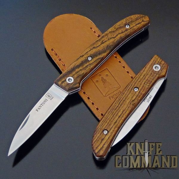 Fantoni Dweller Bocote S Italian Made Slip-joint EDC Pocket Knife.  Top quality Bocote Wood handles.
