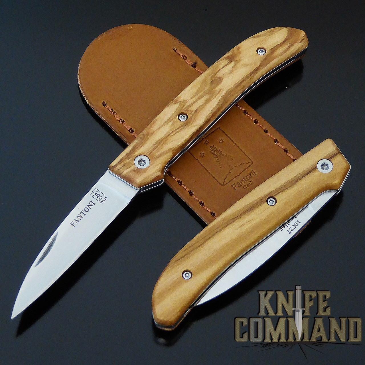 Fantoni Dweller Olive S Italian Made Slip-joint EDC Pocket Knife.  Top quality Olive Wood handles.