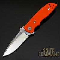 Fantoni HB 03 M390 William Harsey Combat Folder Tactical Knife Blaze Orange.  Bohler M390 Microclean stainless steel blade.
