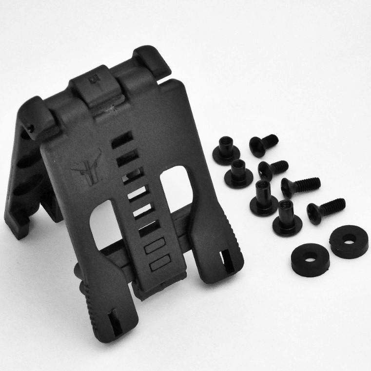 Knife Sheath Hardware with longer screws.