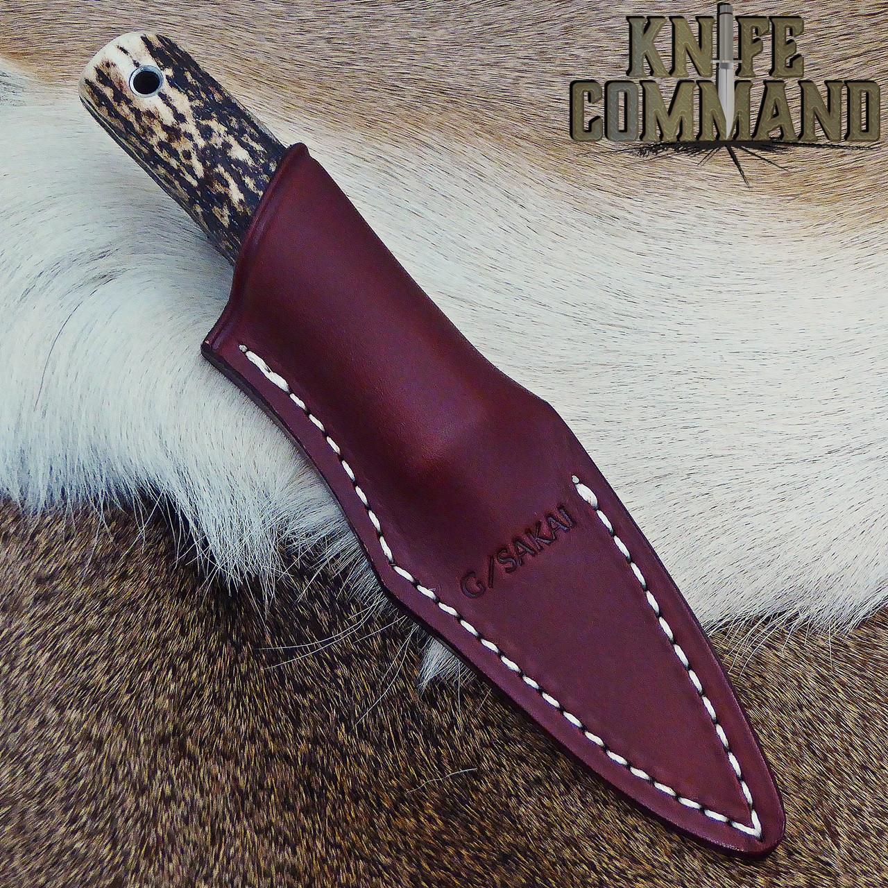 Leather sheath.