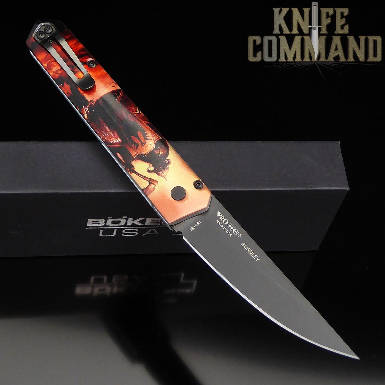 Boker Pro-Tech Burnley PROTOTYPE Frazetta Death Dealer Kwaiken Automatic Knife 06EX294