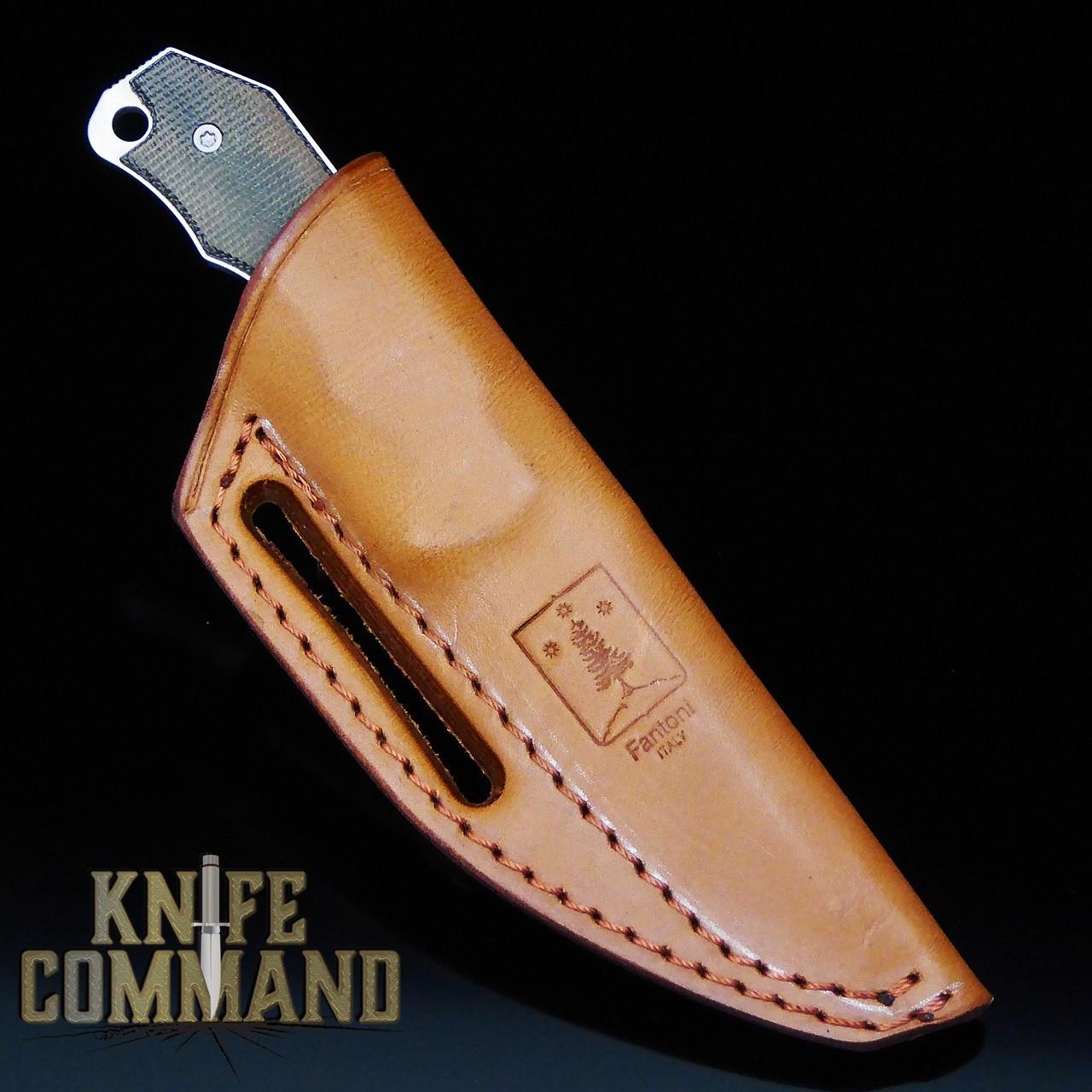 Fantoni Hide Fixed Blade Knife Micarta CPM-S30V Tommaso Rumici Leather Sheath